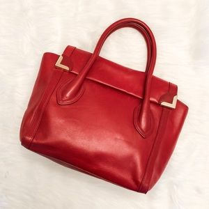 Foley + Corinna Red Vegan Leather Frankie Satchel